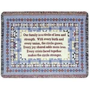 TAPESTRY THROW SIMPLY HOME FAMILY CIRCLE