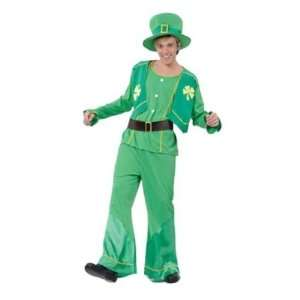 Irish Leprechaun St Patricks Day 4pc Clover Fancy Dress Costume