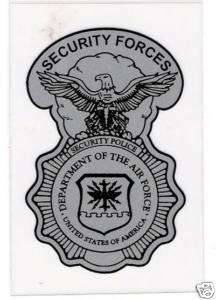 AIR FORCE SECURITY FORCES SHIELD STICKER   SMALL