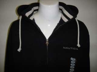 MEDIUM Fleece Full Zip Sherpa Lined Hoodie Jacket NAVY BLUE