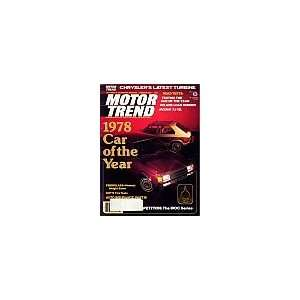 Motor Trend Magazine February 1978 (Road tests Testing the car