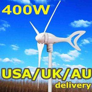 400W WATTS MAX 12/24V BLADE OPTION WIND TURBINE GENERATOR KIT