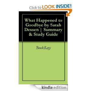 What Happened to Goodbye by Sarah Dessen  Summary & Study Guide