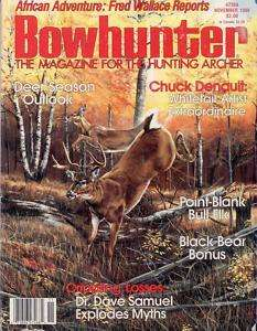 Bowhunter magazine November 1988   Chuck Denault art