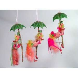 collection sale Pink Flamingo and palm tree: Kitchen & Dining