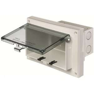 Arlington DBHR171C 1 Horizontal Electrical Box with Weatherproof Cover