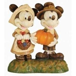 Pack of 2 Disney Mickey & Minnie Mouse Lighted LED Pilgrim