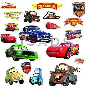 Disney Pixar Cars Piston Cup Champs 19 Wandtattoo Wandsticker NEU