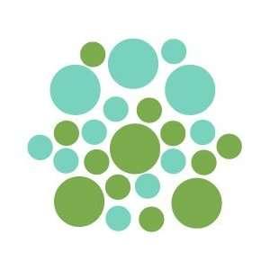 Set of 30   Lime Green / Mint Green Circles Polka Dots