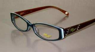 APPLE BOTTOMS AB710 New BLUE BROWN Designer WOMEN Authentic Eyeglasses