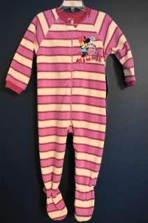 New  MINNIE MOUSE Fleece Sleeper Toddler 2T