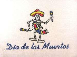 Mexican towel Day of Dead Dia de los Muertos