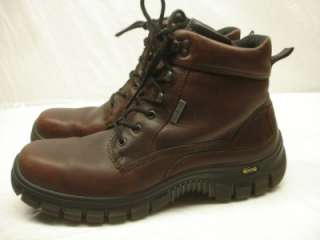 ECCO 3DS Mens Track smooth Toe WATERPROOF Gore Tex Boots Brown sz 46