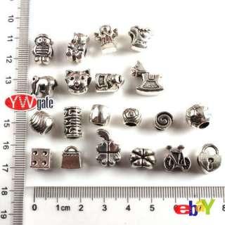 Style Tibetan Silver European Bead Fit Charm Bracelet TO PICK
