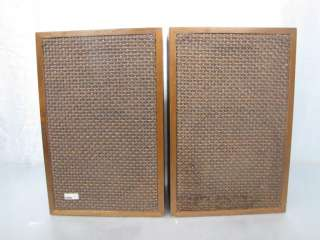HARMON KARDON VINTAGE 60S HK 20 BOOKSHELF SPEAKERS NICE!