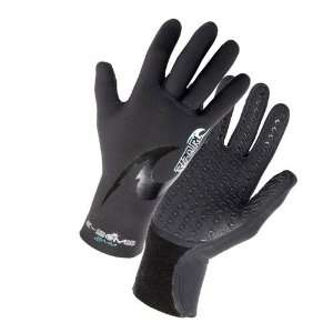 Rip Curl E Bomb 2mm 5 Finger Stitchless Gloves:  Sports