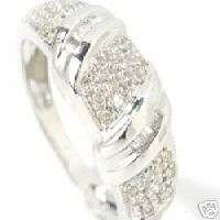 14K White Gold Diamond Pave Band Ring .26 ctw $165