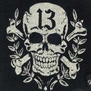 Original Lucky 13 Mütze Totenkopf, Skull  Beanie, Cap