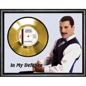 Freddie Mercury In My Defence Framed Gold Record A3
