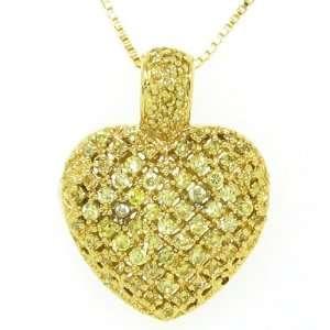 Sterling Silver Vermeil Heart Locket Necklace [Jewelry