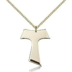 Tau Cross Pendants   Gold Filled Tau Cross Pendant Including 18 Inch