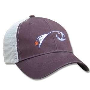 Rising Fly Fishing Trucker Baseball Cap Brown Hat Sports