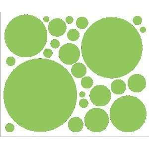 Green Peel and Stick Polka Dots Vinyl Wall Decor Removable Stickers
