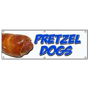 72 PRETZEL DOGS BANNER SIGN soft pretzel hot dog signs
