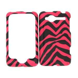 FOR VERIZON HTC WILDFIRE PINK ZEBRA COVER CASE