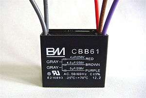 ceiling fan capacitor cbb61 3uf 4wire. Black Bedroom Furniture Sets. Home Design Ideas
