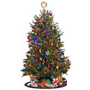Vinyl Wall Graphics Eclectic Christmas Tree Cling Full