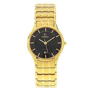 Obaku Harmony Gold Stainless Steel Quartz Watch Wristwatch v101lgbsg s