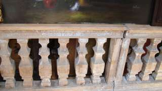 ANTIQUE c1800 FRENCH HAND CARVED WOOD BALUSTERS 4 SECTIONS15 FT
