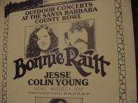 BONNIE RAITT 1972 70s BLUES CONCERT POSTER DAVE MASON