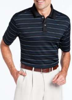 Callaway Mens Simple Stripe Performance Dry Fit Golf Club Polo Shirt