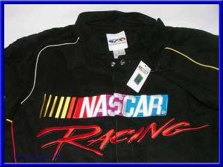 NASCAR Racing Jacket/Coat/Black/Shirt   MensL/Lg/Large/Auto/Car/Logo