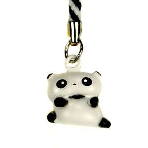 PANDA BELL CHARM Cell Mobil Phone Strap Brass Toy NEW