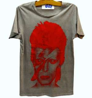 David Bowie Bolt ZIGGY STARDUST Punk Rock T Shirt L