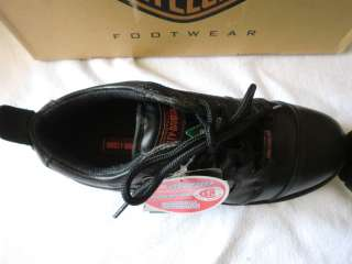 HARLEY DAVIDSON SAFETY STEEL TOE WORK SHOES SIZE 7 MENS BLACK LEATHER