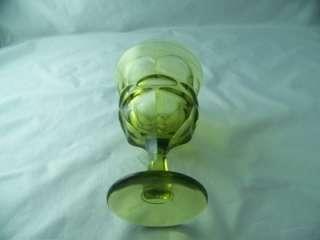 FOSTORIA ARGUS GREEN STEMMED WATER GOBLET (s), STEM # 2770