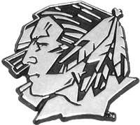 University of North Dakota Car Emblem Metal