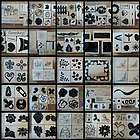 Mounted Rubber stamp sets, U Pick many to choose garden floral spring