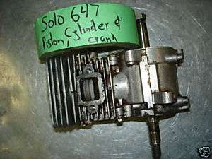 SOLO 647 CHAINSAW PISTON CYLINDER & CRANKSHAFT CRANK