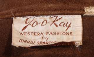 MENS VTG JOO KAY SOFT LEATHER WESTERN JACKET/SHIRT sz M
