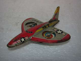 Vintage Friction US Air Force Plane Tin Toy   Japan |