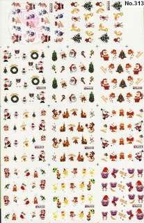 220 NAIL IMAGES IN 1 NAIL ART TATTOOS STICKER WATER DECAL L