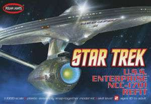 Polar Lights 1/1000 Star Trek USS Enterprise NCC 1701 REFIT Version