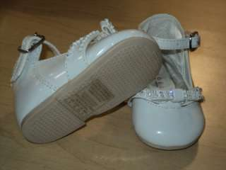 Baby Girls White Patent Leather Dress Shoes/ Size 5