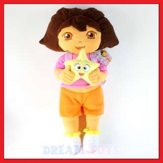 25 Dora the Explorer with Star   Extra Large Plush Doll New