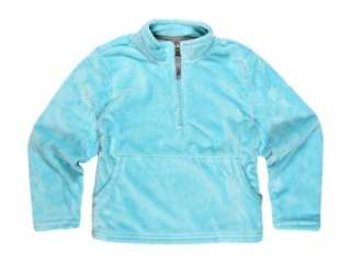 XS 5 6 Girls The North Face PLUSH Mossbud Bright Blue 1/4 Zip Fleece